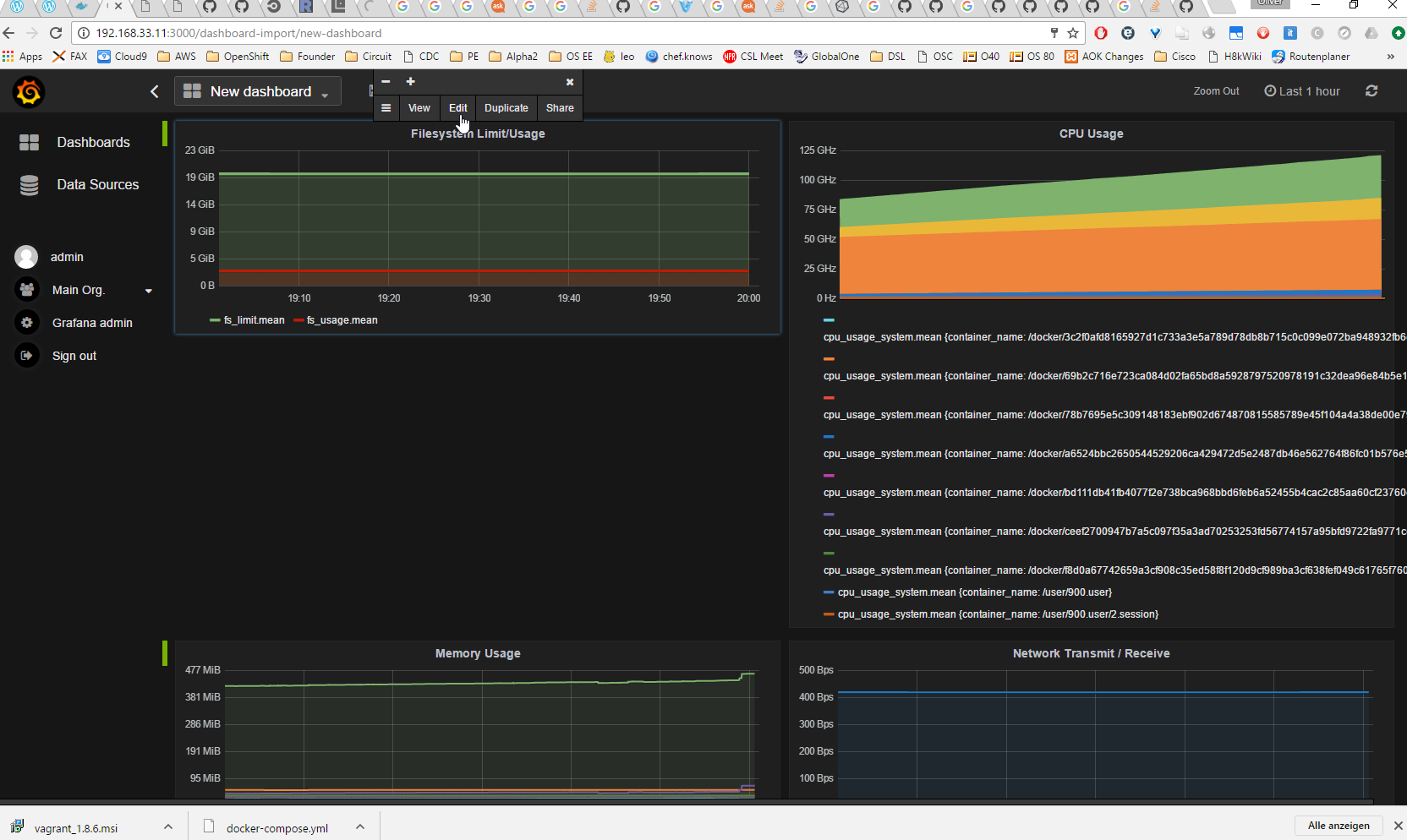 How to set up Docker Monitoring via cAdvisor, InfluxDB and