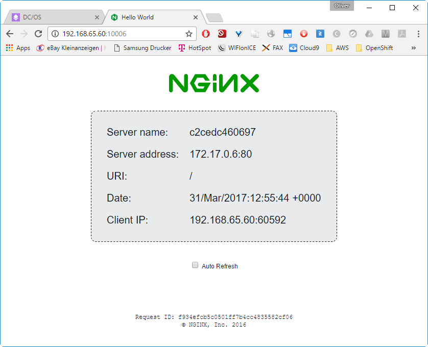 NginX Hostname - Container 3