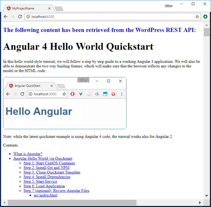 Consuming a REST Service with Angular 4 3+: a Step-by-step