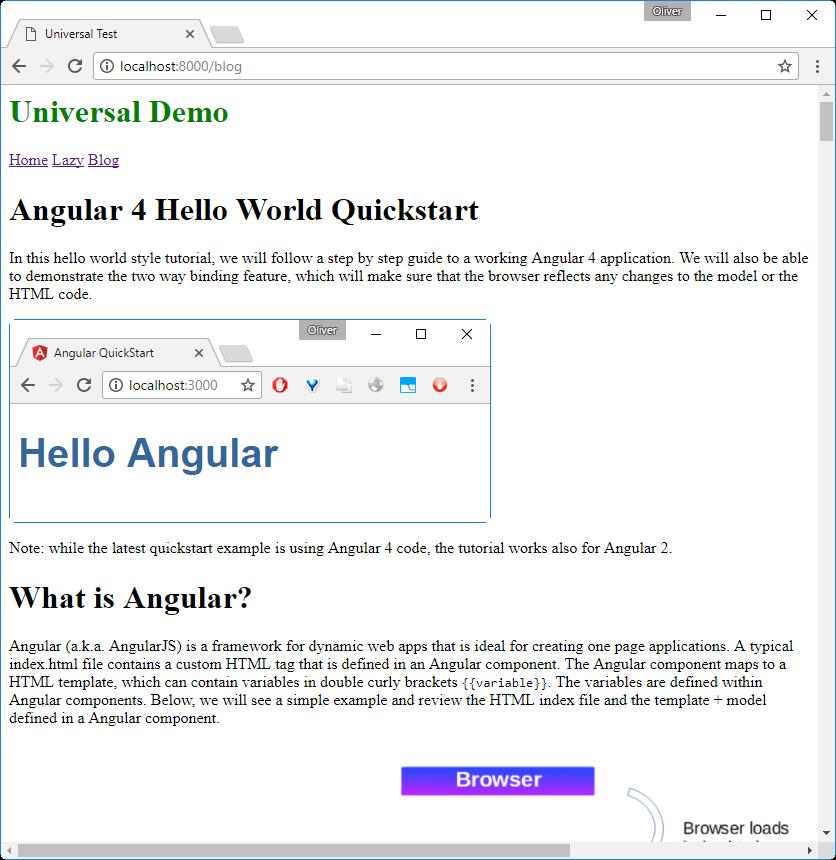 Angular 4 Universal: Boosting Performance through Server