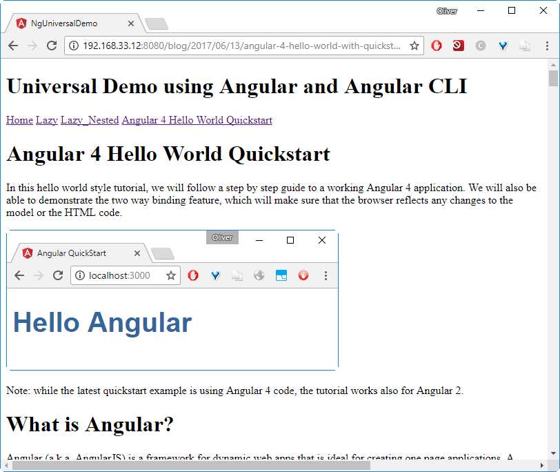 Angular Universal Docker Example