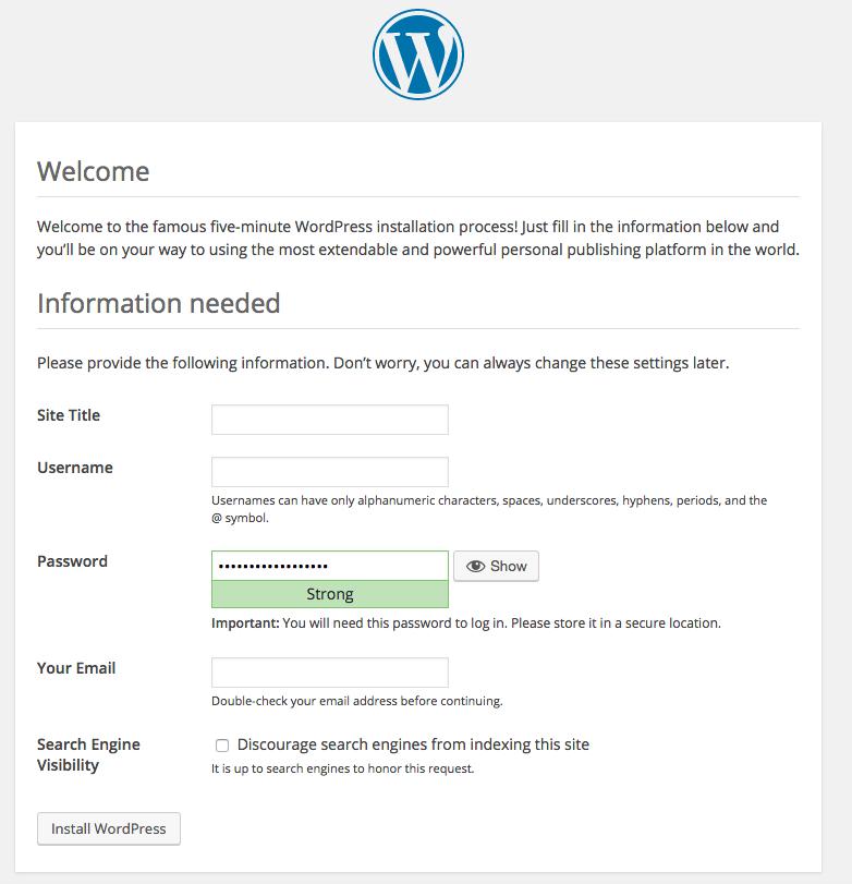 Install WordPress via Docker Compose -