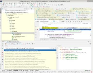 Set a breakpoint in checkOrigin function ofspring-web JAR