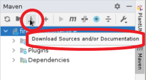 Download Sources in the Maven Pane